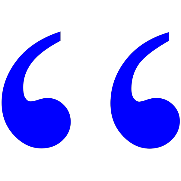 Blue Quotation Marks PNG Clip art