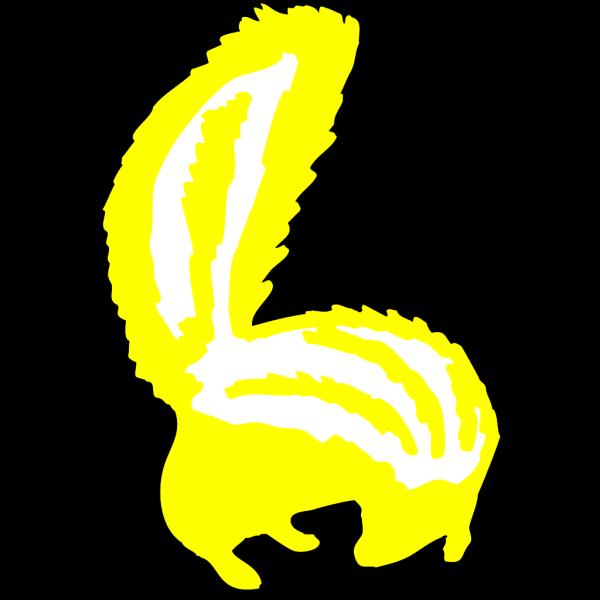 Yellow Skunk PNG Clip art