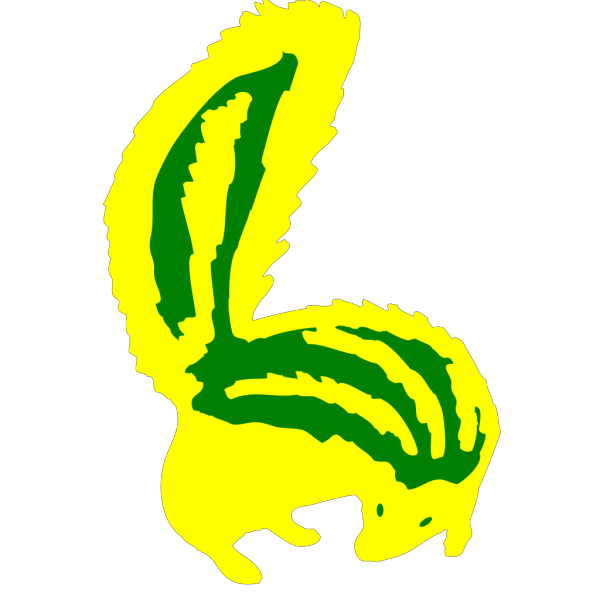 Yellow/green Skunk PNG Clip art