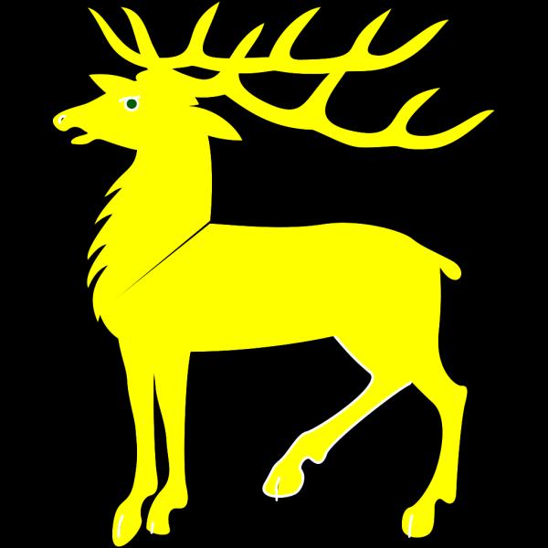 Yellow Deer PNG Clip art