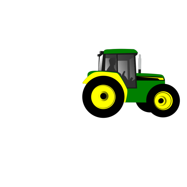 Green Tractor With Animals PNG Clip art