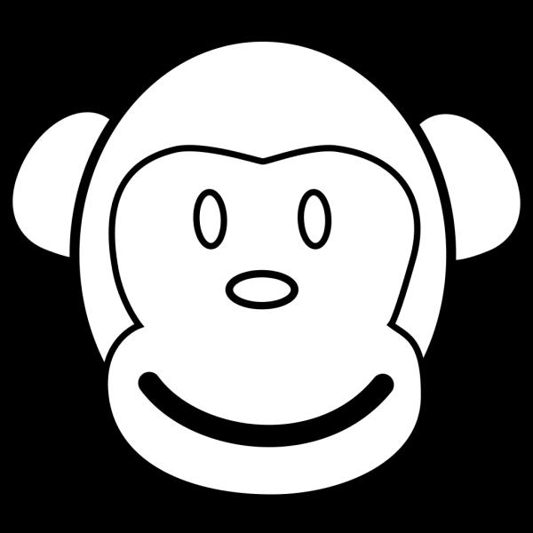 Cartoon Monkey Face PNG Clip art