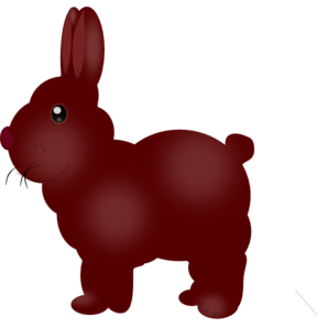 Chocolate Colored Bunny PNG Clip art