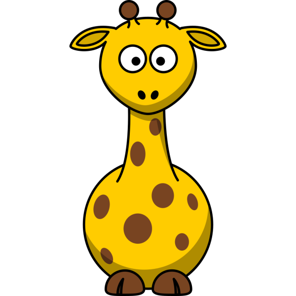 Cute Cartoon Giraffe PNG Clip art