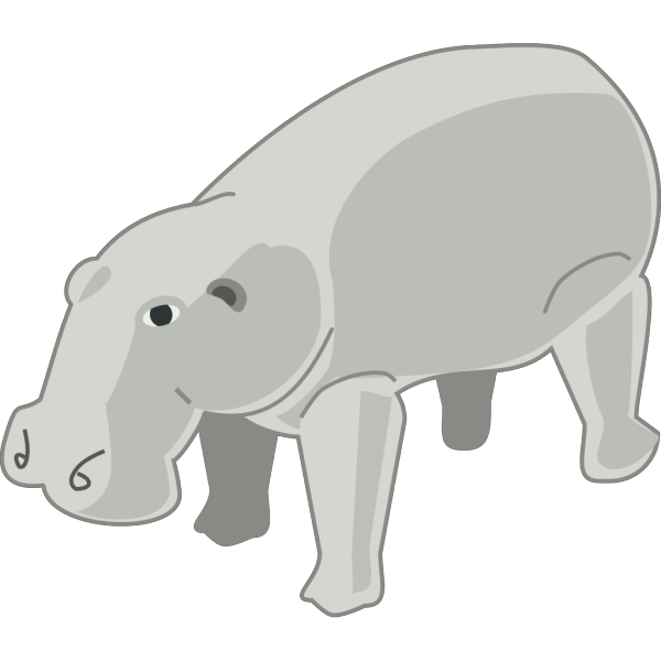 Gray Hippopotamus PNG images