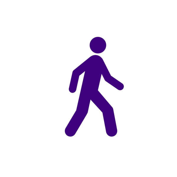 Walking Man Black PNG Clip art