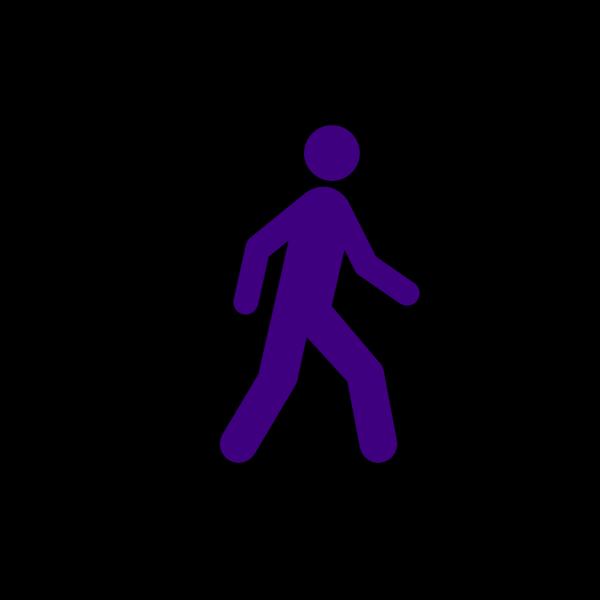 Walking Man Black PNG Clip art