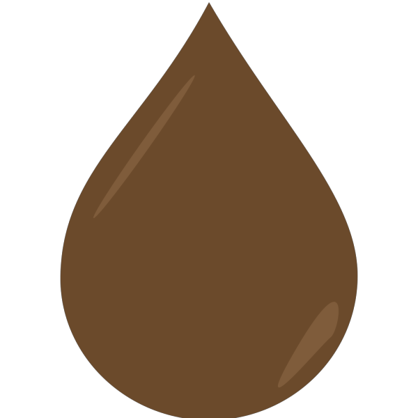 Brown Droplet Textured - Bhill PNG Clip art