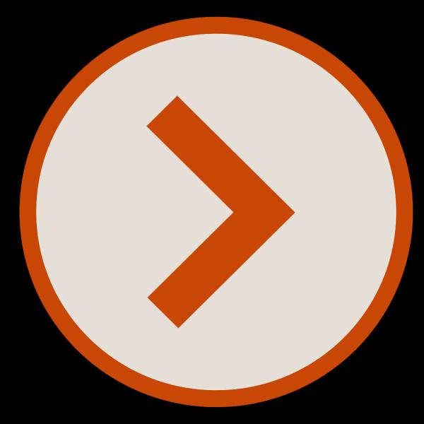 Icon Next Orange Brown PNG Clip art