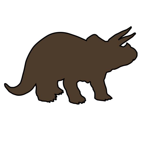 Brown Triceratops PNG Clip art