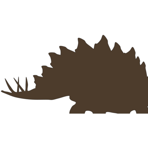 Brown Stegosaurus