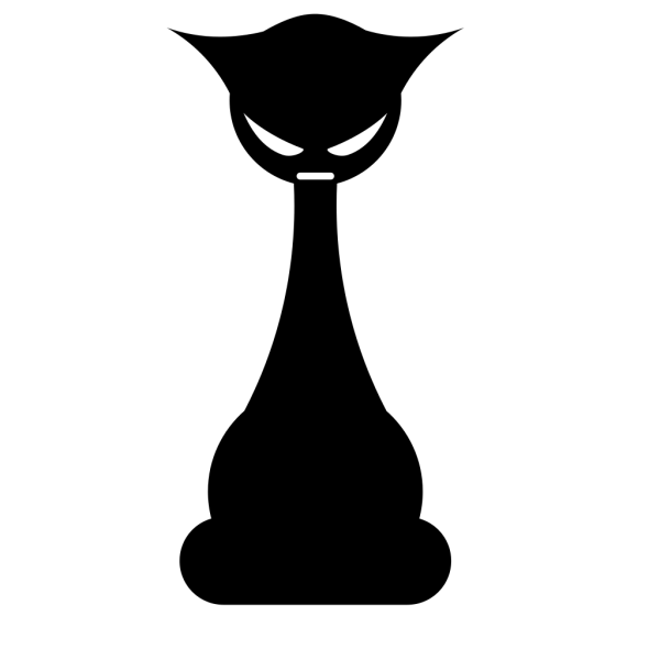 Gothic Cat PNG Clip art