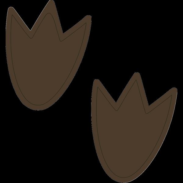 Dark Brown Dino Print PNG Clip art