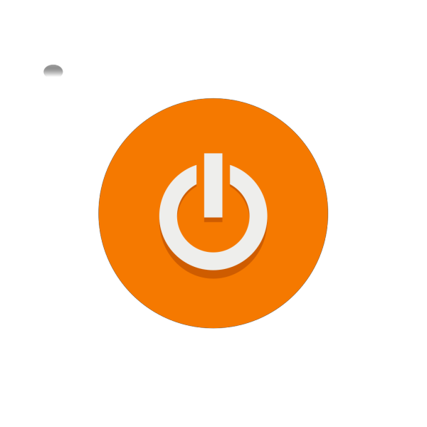 Orange Power Button PNG icons