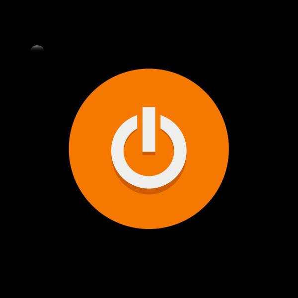 Orange Power Button PNG Clip art