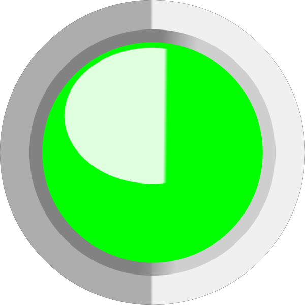 Green Circle Button PNG icon