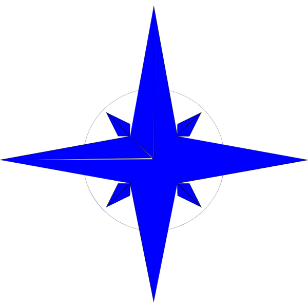 Northstar Blue Yellow PNG Clip art
