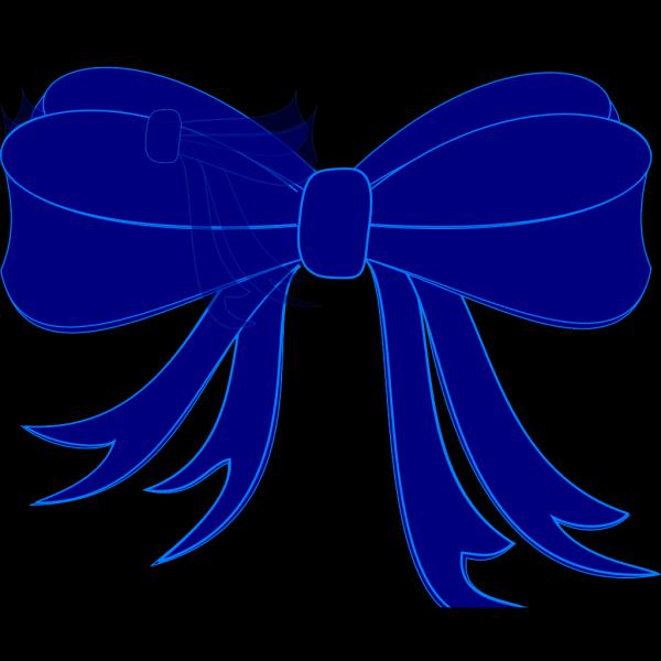 Blue Bow Ribbon PNG Clip art