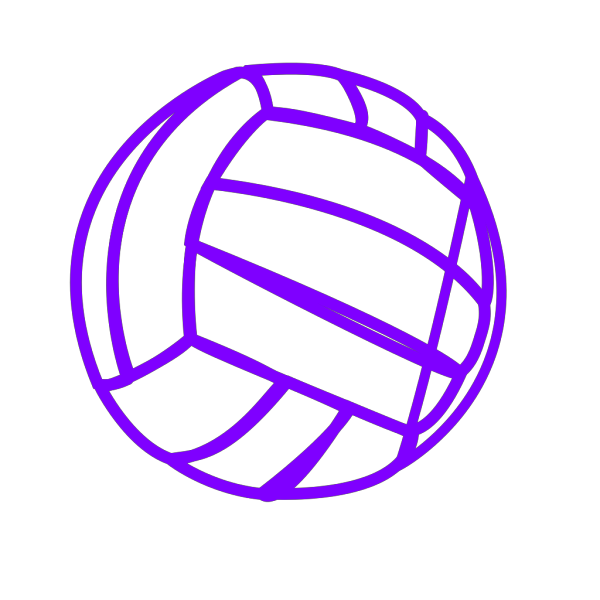 Blue Volleyball