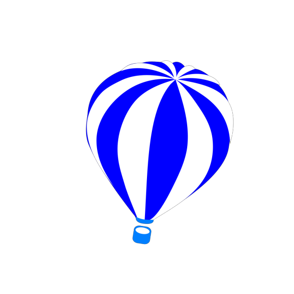 Hot Air Balloon Blue  PNG Clip art