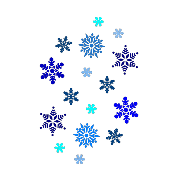 Blue Snowflake PNG icons