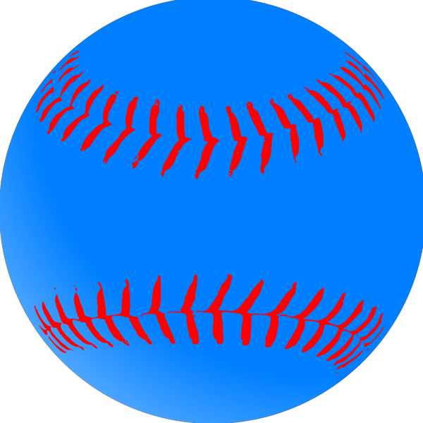 Blue Baseball PNG Clip art