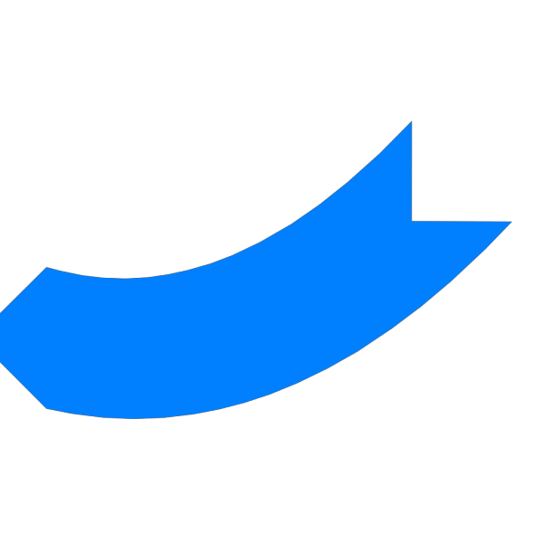 Blue Curved Arrow PNG Clip art
