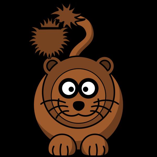 Simple Cartoon Lion PNG Clip art