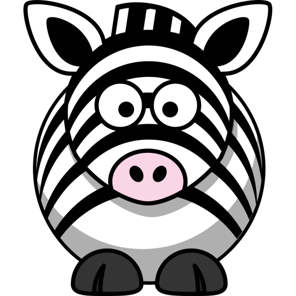 Simple Cartoon Zebra