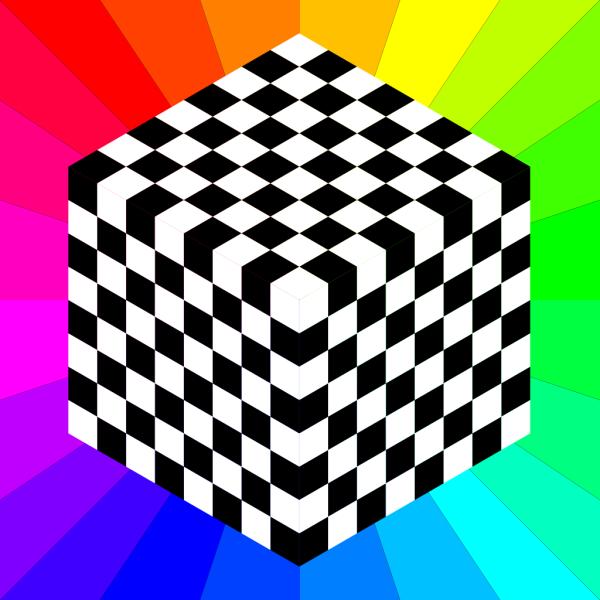 3d Chessboard PNG Clip art