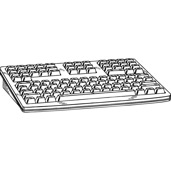 Computer Keyboard Black 01 PNG images