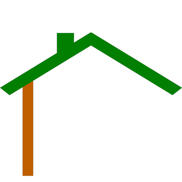 Green Brown House PNG icon