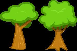 Green Brown Tree PNG Clip art
