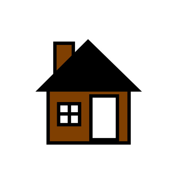 Brown House The PNG Clip art