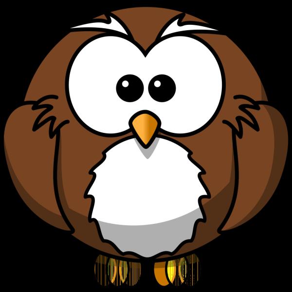 Brown Cartoon Owl PNG Clip art