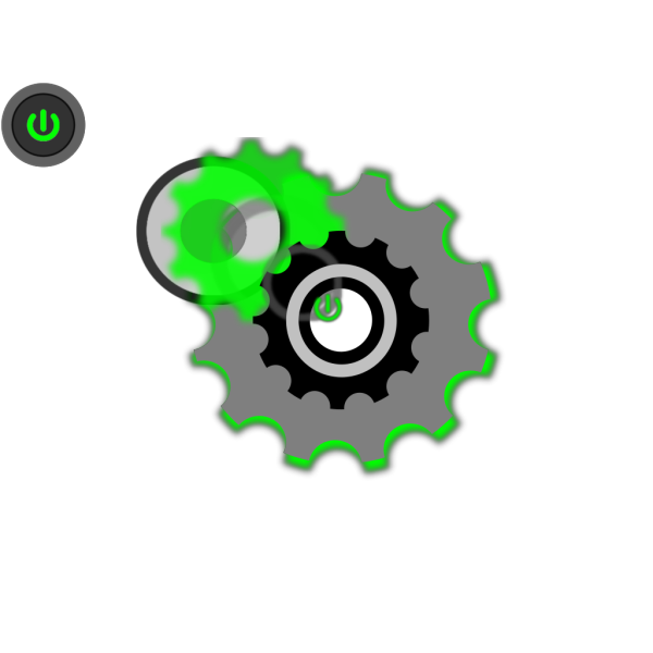 Power Button Gear PNG images