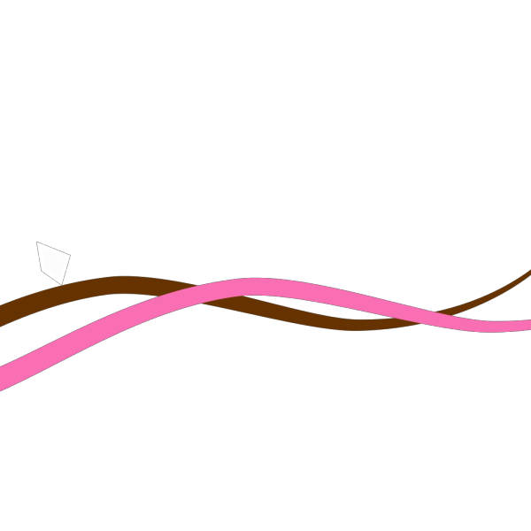 Pink & Brown Waves PNG Clip art