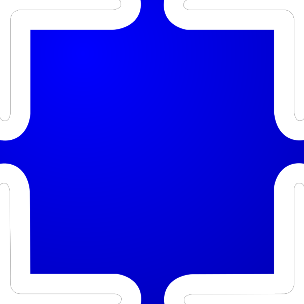 Blue Jigsaw PNG icon