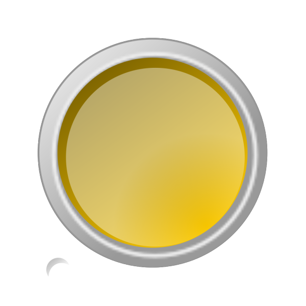 Glossy Yellow Button PNG Clip art