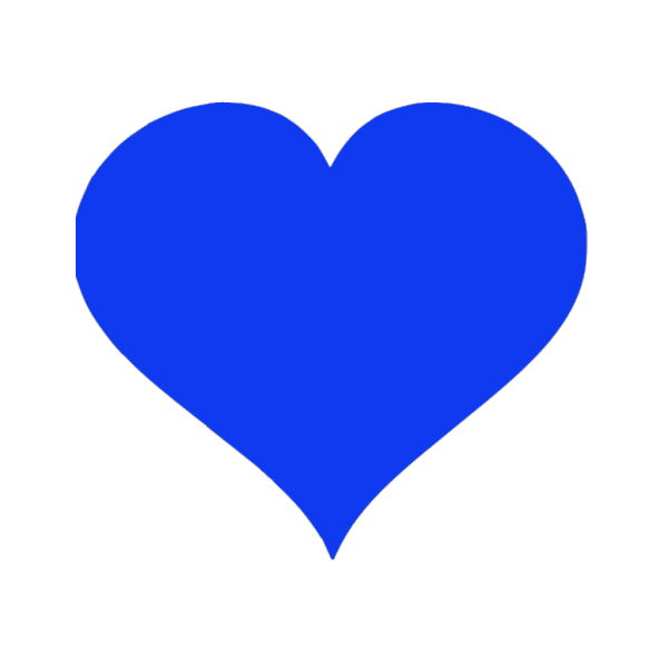 Blue Hearts PNG icons
