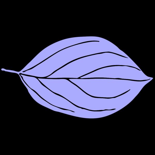 Light Blue Oval Leaf PNG Clip art