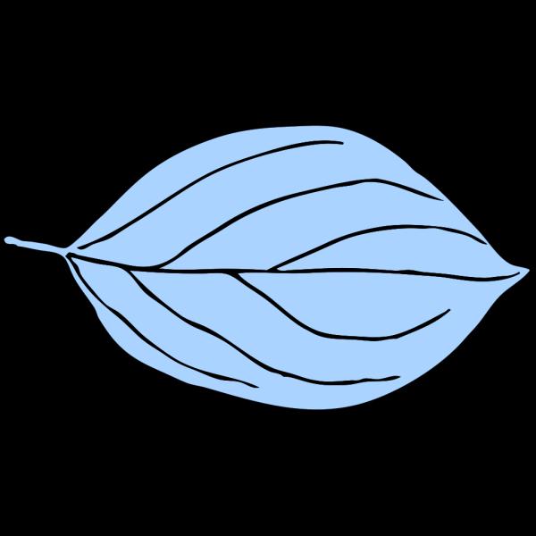 Lighter Blue Oval Leaf PNG Clip art