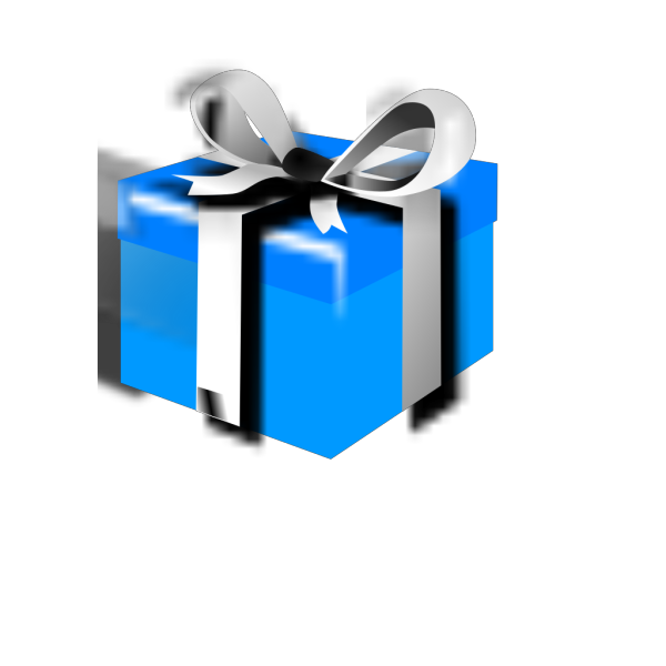 Blue-gift PNG Clip art