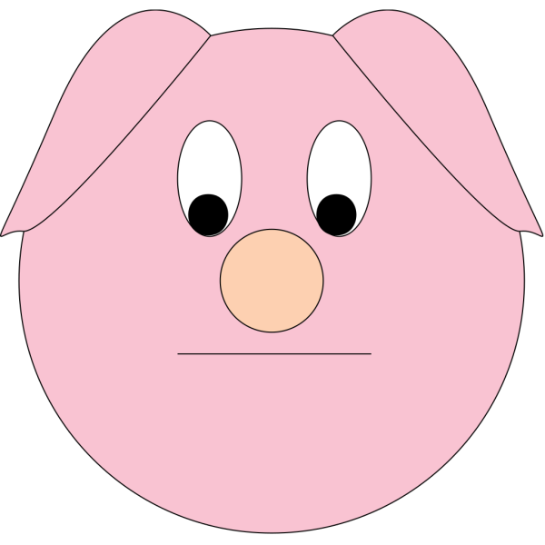 Sad Cartoon Piggy PNG Clip art