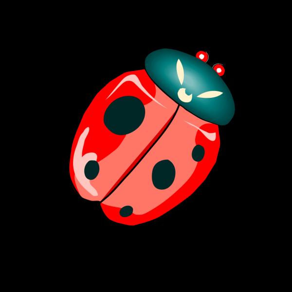 Diagonal Ladybug PNG Clip art