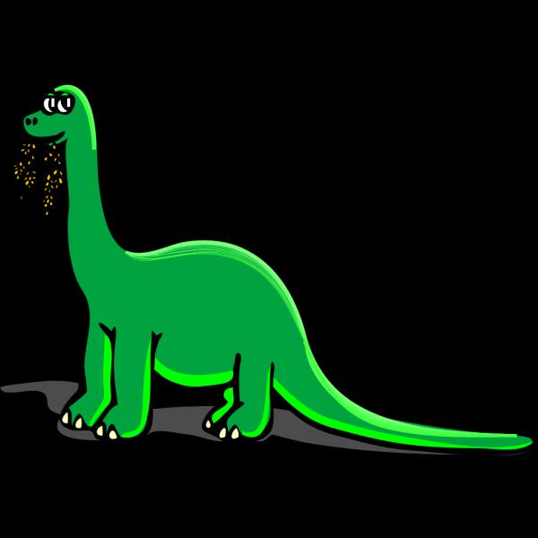 Eating Cartoon Dinosaur PNG Clip art