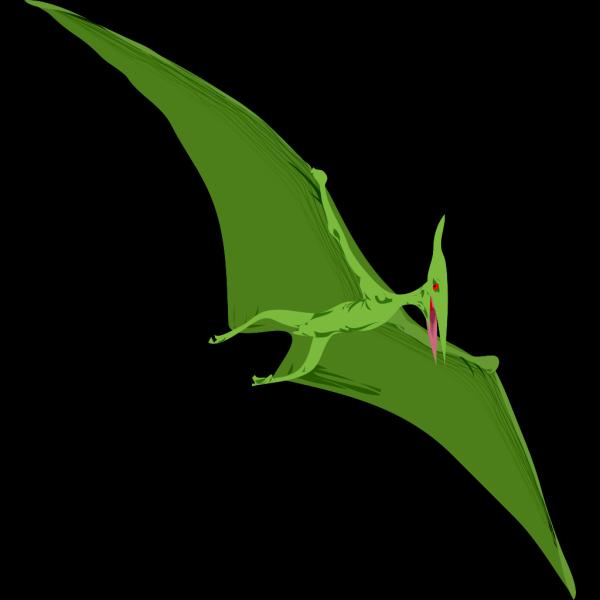 Flying Green Dinosaur PNG Clip art