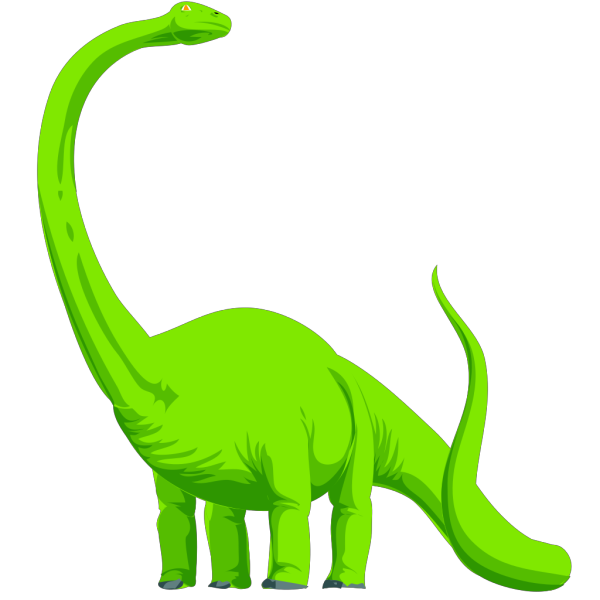Green Colored Dinosaur PNG Clip art