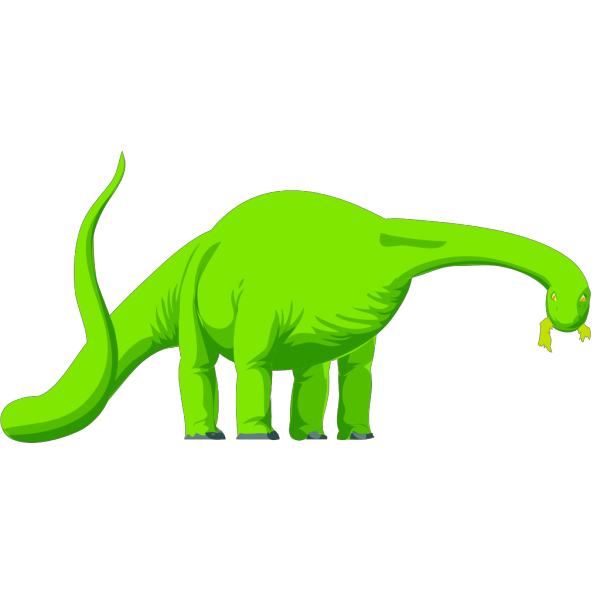 Green Colored Eating Dinosaur PNG Clip art