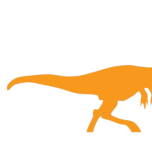 Orange Dinosaur PNG Clip art